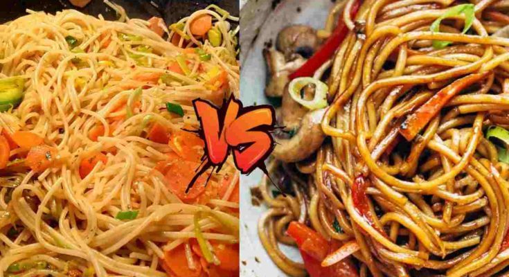 Chow mein vs Lo mein different nutrition calculate ...